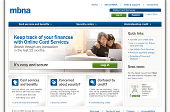 Website preview image for: Personal Credit Cards | MBNA
