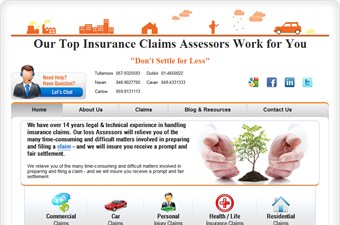 Website preview image for: Pro Insurance Claims Ireland