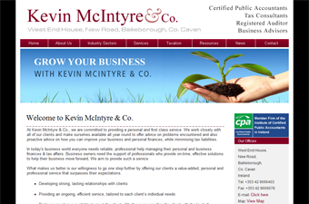Website preview image for: Kevin McIntyre & Co.Certified Public Accountants - Cavan, Meath and Dublin