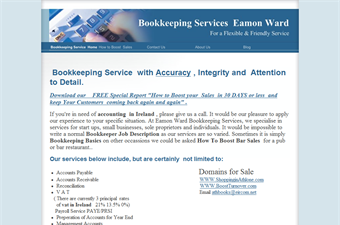 Website preview image for: Bokkeeping Services by Eamon Ward